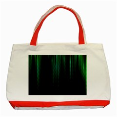 Lines Light Shadow Vertical Aurora Classic Tote Bag (red)