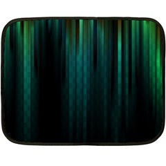 Lines Light Shadow Vertical Aurora Double Sided Fleece Blanket (mini)  by Mariart