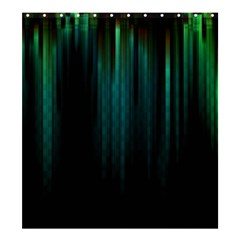 Lines Light Shadow Vertical Aurora Shower Curtain 66  X 72  (large)  by Mariart