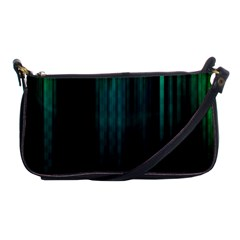 Lines Light Shadow Vertical Aurora Shoulder Clutch Bags by Mariart