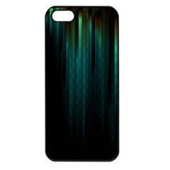 Lines Light Shadow Vertical Aurora Apple Iphone 5 Seamless Case (black) by Mariart