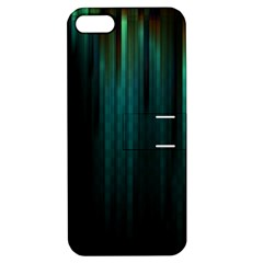 Lines Light Shadow Vertical Aurora Apple Iphone 5 Hardshell Case With Stand by Mariart