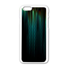Lines Light Shadow Vertical Aurora Apple Iphone 6/6s White Enamel Case by Mariart