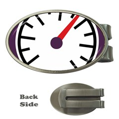 Maker Measurer Hours Time Speedometer Money Clips (oval)  by Mariart