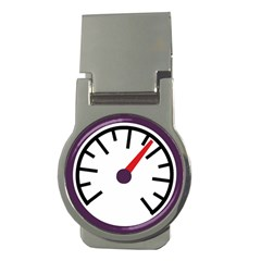 Maker Measurer Hours Time Speedometer Money Clips (round)  by Mariart