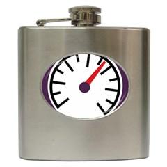 Maker Measurer Hours Time Speedometer Hip Flask (6 Oz) by Mariart
