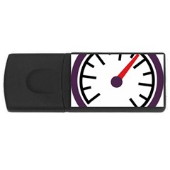 Maker Measurer Hours Time Speedometer Usb Flash Drive Rectangular (4 Gb) by Mariart