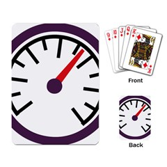 Maker Measurer Hours Time Speedometer Playing Card by Mariart