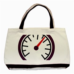 Maker Measurer Hours Time Speedometer Basic Tote Bag by Mariart