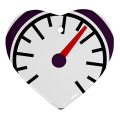 Maker Measurer Hours Time Speedometer Heart Ornament (two Sides) by Mariart