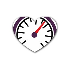 Maker Measurer Hours Time Speedometer Heart Coaster (4 Pack)  by Mariart
