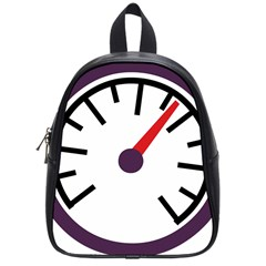 Maker Measurer Hours Time Speedometer School Bags (small)  by Mariart