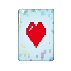 Red Heart Love Plaid Red Blue Ipad Mini 2 Hardshell Cases by Mariart