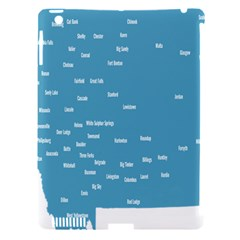 Peta Anggota City Blue Eropa Apple Ipad 3/4 Hardshell Case (compatible With Smart Cover) by Mariart
