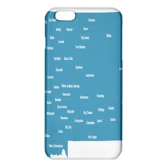 Peta Anggota City Blue Eropa Iphone 6 Plus/6s Plus Tpu Case by Mariart