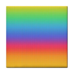 Plaid Rainbow Retina Green Purple Red Yellow Tile Coasters by Mariart