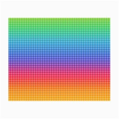 Plaid Rainbow Retina Green Purple Red Yellow Small Glasses Cloth by Mariart