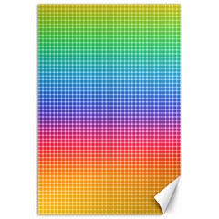 Plaid Rainbow Retina Green Purple Red Yellow Canvas 20  X 30   by Mariart