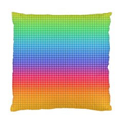 Plaid Rainbow Retina Green Purple Red Yellow Standard Cushion Case (two Sides) by Mariart