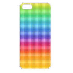 Plaid Rainbow Retina Green Purple Red Yellow Apple Iphone 5 Seamless Case (white) by Mariart