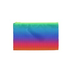 Plaid Rainbow Retina Green Purple Red Yellow Cosmetic Bag (xs) by Mariart