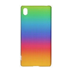 Plaid Rainbow Retina Green Purple Red Yellow Sony Xperia Z3+ by Mariart