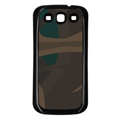 Tree Jungle Brown Green Samsung Galaxy S3 Back Case (black) by Mariart