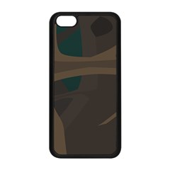 Tree Jungle Brown Green Apple Iphone 5c Seamless Case (black) by Mariart