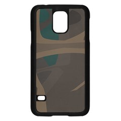 Tree Jungle Brown Green Samsung Galaxy S5 Case (black) by Mariart