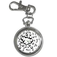 Splash Bubble Black White Polka Circle Key Chain Watches by Mariart