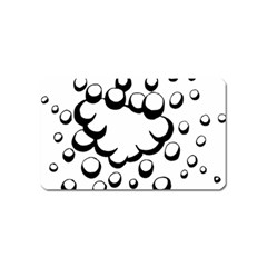 Splash Bubble Black White Polka Circle Magnet (name Card) by Mariart