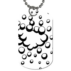 Splash Bubble Black White Polka Circle Dog Tag (two Sides) by Mariart