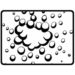 Splash Bubble Black White Polka Circle Fleece Blanket (large)  by Mariart