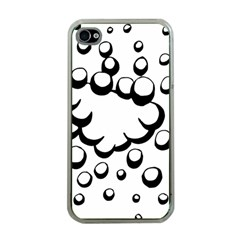Splash Bubble Black White Polka Circle Apple Iphone 4 Case (clear) by Mariart
