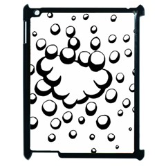 Splash Bubble Black White Polka Circle Apple Ipad 2 Case (black) by Mariart