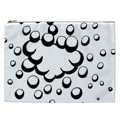 Splash Bubble Black White Polka Circle Cosmetic Bag (xxl)  by Mariart