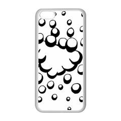 Splash Bubble Black White Polka Circle Apple Iphone 5c Seamless Case (white) by Mariart