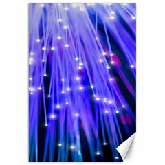 Neon Light Line Vertical Blue Canvas 20  X 30   by Mariart
