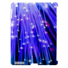 Neon Light Line Vertical Blue Apple Ipad 3/4 Hardshell Case (compatible With Smart Cover) by Mariart