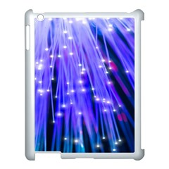 Neon Light Line Vertical Blue Apple Ipad 3/4 Case (white) by Mariart