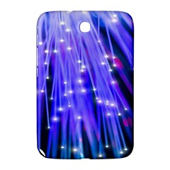 Neon Light Line Vertical Blue Samsung Galaxy Note 8 0 N5100 Hardshell Case  by Mariart
