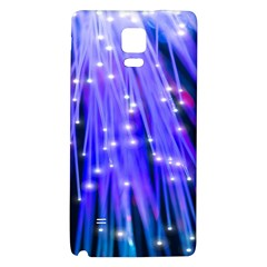 Neon Light Line Vertical Blue Galaxy Note 4 Back Case by Mariart