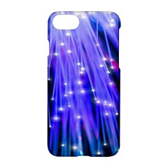 Neon Light Line Vertical Blue Apple Iphone 7 Hardshell Case by Mariart
