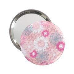 Scrapbook Paper Iridoby Flower Floral Sunflower Rose 2 25  Handbag Mirrors by Mariart