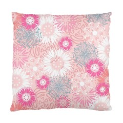 Scrapbook Paper Iridoby Flower Floral Sunflower Rose Standard Cushion Case (two Sides) by Mariart