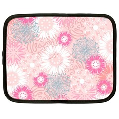 Scrapbook Paper Iridoby Flower Floral Sunflower Rose Netbook Case (xl)  by Mariart