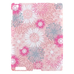 Scrapbook Paper Iridoby Flower Floral Sunflower Rose Apple Ipad 3/4 Hardshell Case by Mariart