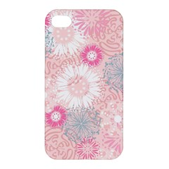 Scrapbook Paper Iridoby Flower Floral Sunflower Rose Apple Iphone 4/4s Premium Hardshell Case by Mariart