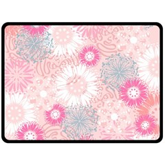 Scrapbook Paper Iridoby Flower Floral Sunflower Rose Double Sided Fleece Blanket (large)  by Mariart