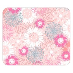Scrapbook Paper Iridoby Flower Floral Sunflower Rose Double Sided Flano Blanket (small)  by Mariart